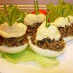 Фаршированные яйца Гурман с сушеными грибами