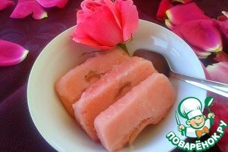 Рецепт: Розовый сорбет с джемовой прослойкой