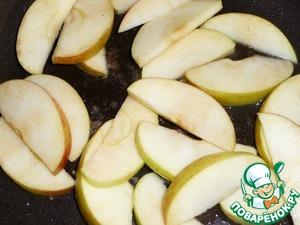 Карамелизированная куриная печень с яблоком Масло растительное