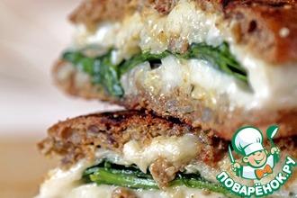 Рецепт: Сэндвич с сыром и шпинатом