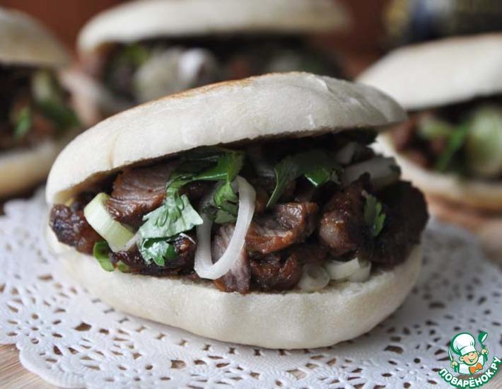 Рецепт: Лепёшки с мясной начинкой по-китайски