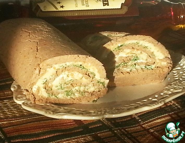 Рецепт: Рулет из куриной печени с сыром