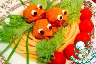 Рецепт: Тефтельки «Сказочные» в сливочно-томатном соусе