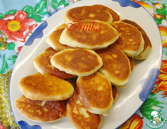 Рецепт: Пирожки с яблоками из творожного теста
