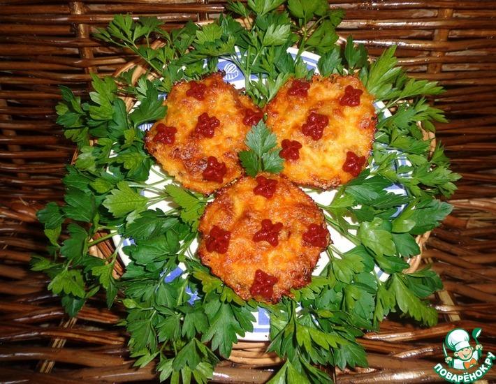 Рецепт: Мясо, запеченное с яблоками под молочно-соевым соусом