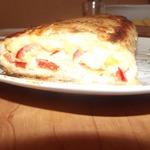 Куриный рулет с сыром и болгарским перцем