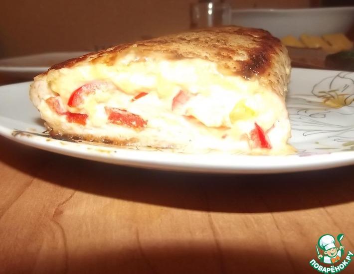 Рецепт: Куриный рулет с сыром и болгарским перцем