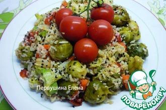 Рецепт: Рагу быстрое овощное с рисом в медово-соевой заправке