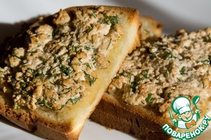 Рецепт Горячие бутерброды с творогом и соевым соусом