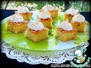 Рецепт Пирожные с абрикосовым джемом и безе