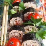 Роллы с начинкой из творога и овощей