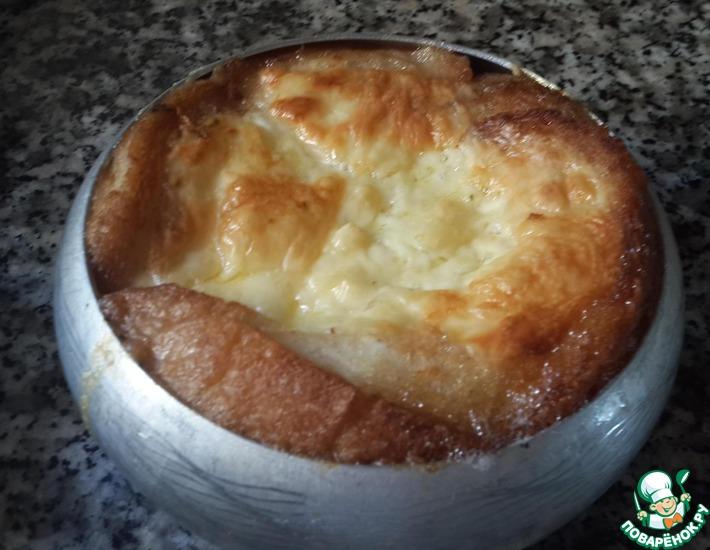 Рецепт: Хлебная запеканка суфле