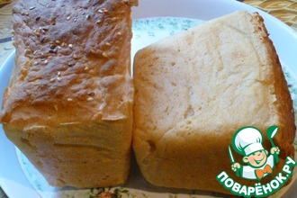 Рецепт: Бездрожжевой постный хлеб