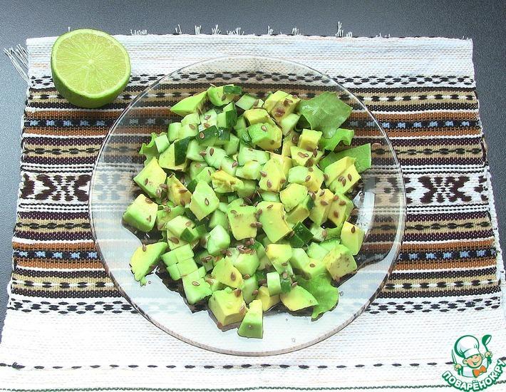 Рецепт: Салат с авокадо и соевым соусом