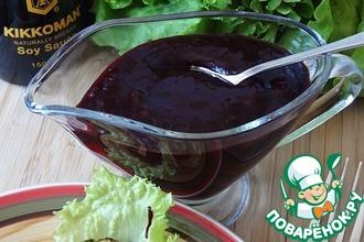 Рецепт: Острый соус из черной смородины