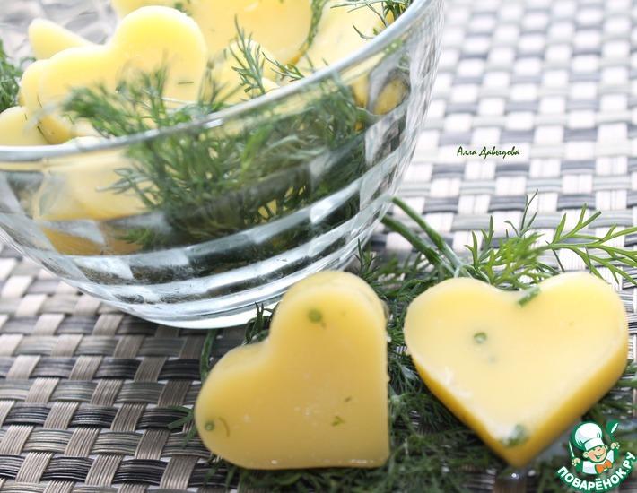 Рецепт: Сливочное масло с травами и чесноком