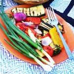 Маринованные свежие овощи на гриле
