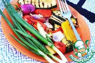 Рецепт: Маринованные свежие овощи на гриле