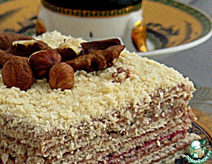 Рецепт: Торт вафельный Восточный