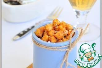 Рецепт: Орешки из нута под пиво