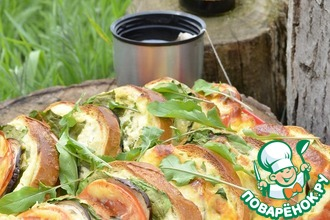 Рецепт: Бутерброды Закусочные сырно-овощные