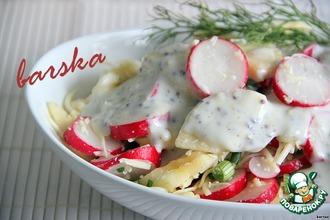 Рецепт: Салат из редиса, яблока и сыра