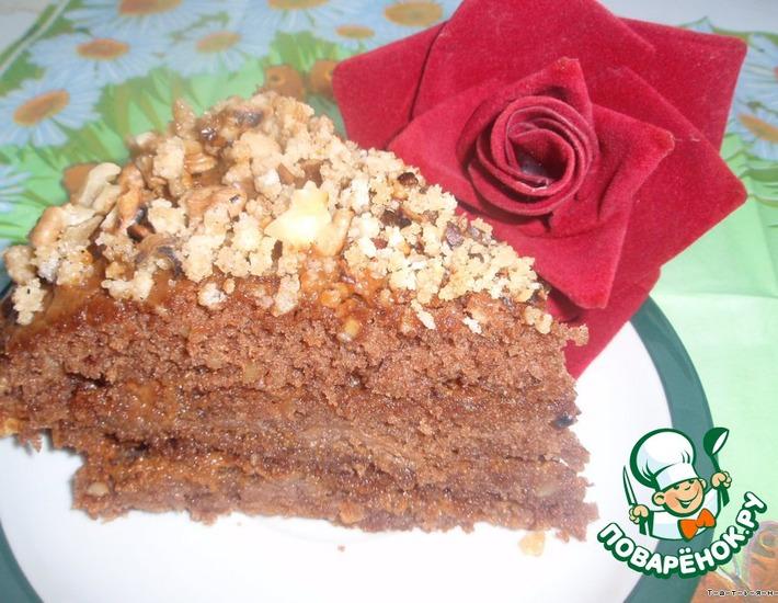 Рецепт: Торт сливочный Вацлавский