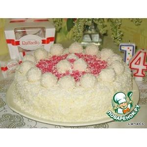 Торт Рафаэлло из покупных коржей