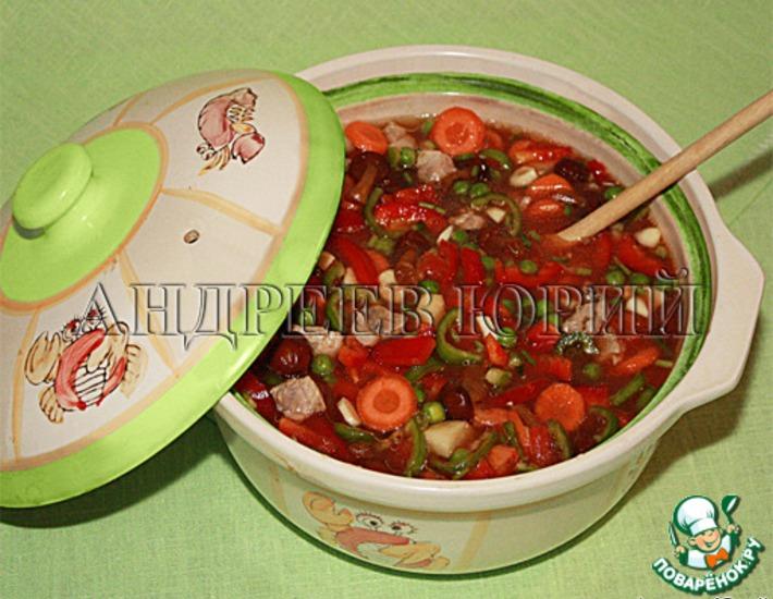 Рецепт: Густой томатный суп