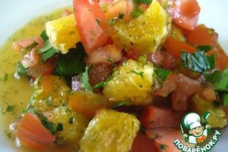 Рецепт: Апельсиново-томатный салат