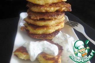 Рецепт: Сырные оладьи с кус-кусом