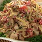 Салат из крабовых палочек Весенний бриз