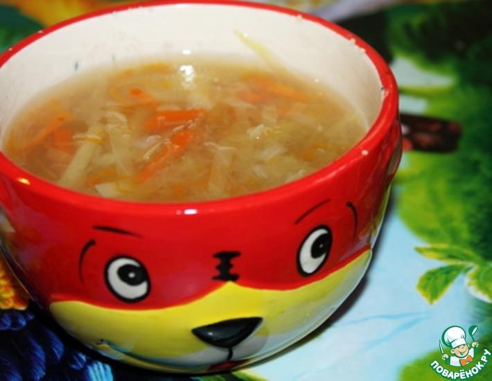 Рецепт: Овощной суп с яблоками