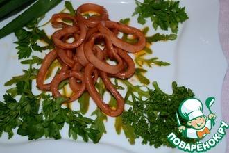Рецепт: Кальмар маринованный в соевом соусе