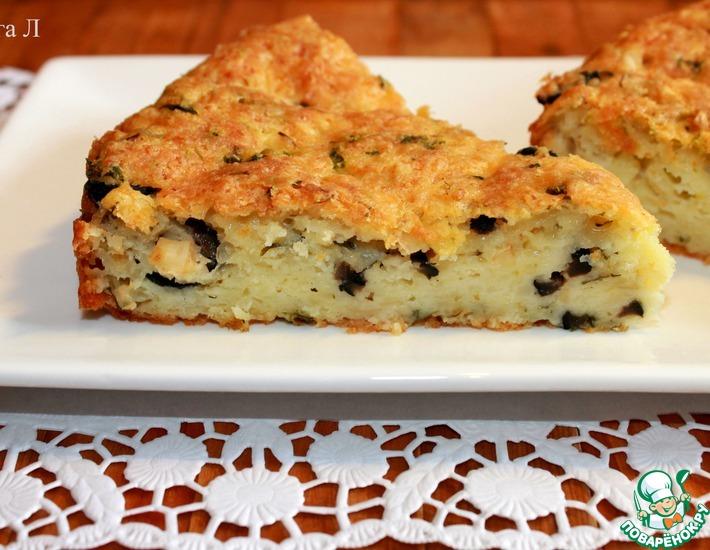Рецепт: Сырный пирог с сельдереем и маслинами