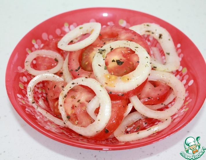 Рецепт: Закуска из помидоров и лука