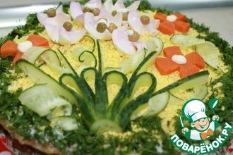 Рецепт: Закусочный торт Майский
