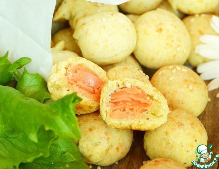 Рецепт: Сырное печенье с семгой