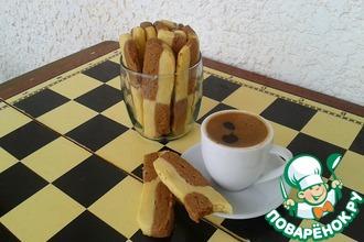Рецепт: Печенье Ванильно-шоколадные полоски