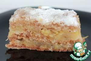 Рецепт Венгерский насыпной яблочный пирог в мультиварке