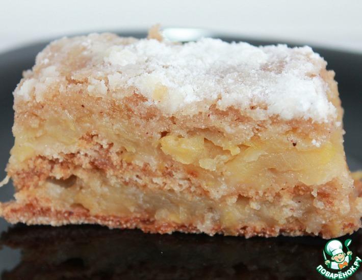Рецепт: Венгерский насыпной яблочный пирог в мультиварке