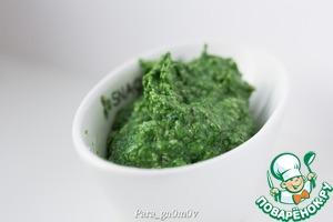 5. Перемешивать получившуюся пасту, постепенно добавляя оливковое масло, до нужной консистенции.