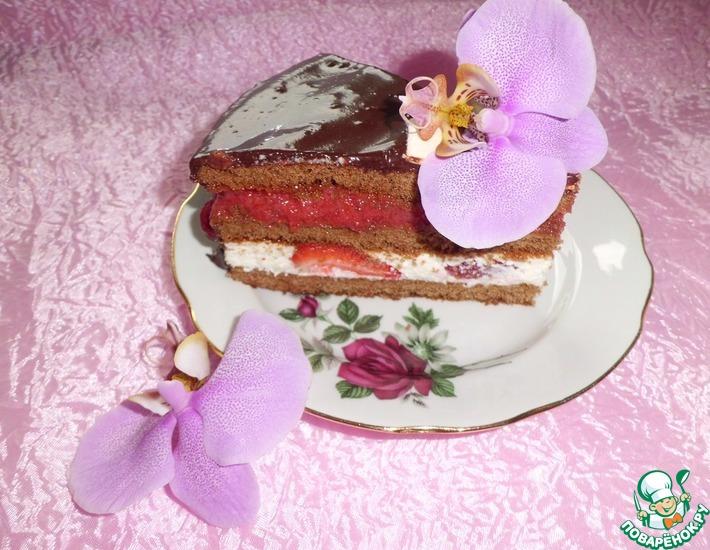 Рецепт: Торт Ура!! Лето!!! (без выпекания)