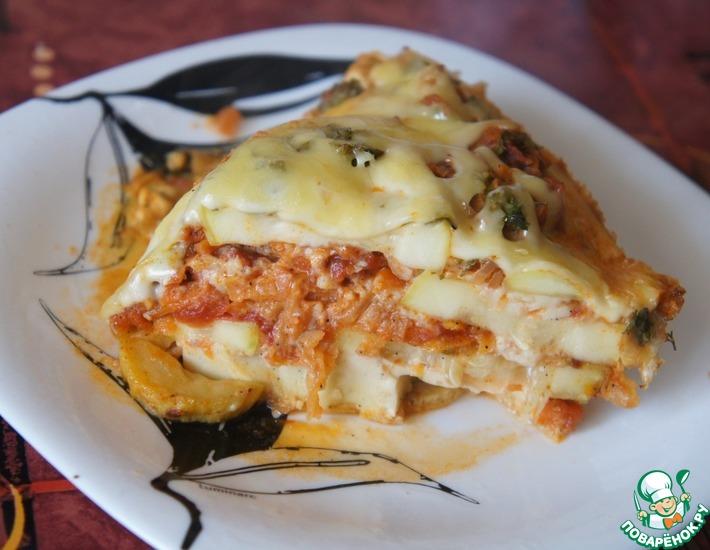 Рецепт: Сырно-кабачковая запеканка