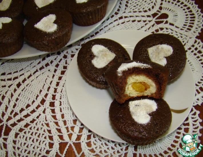 Рецепт: Шоколадные кексики Обалденные