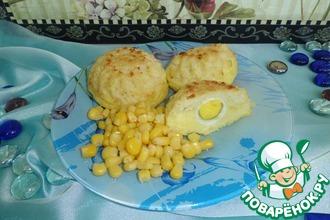 Рецепт: Капустно-картофельные подсолнухи