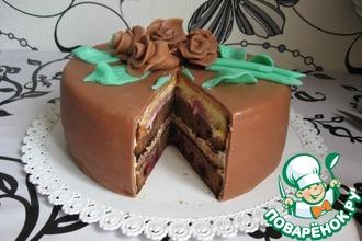Рецепт: Торт Вишня в шоколаде