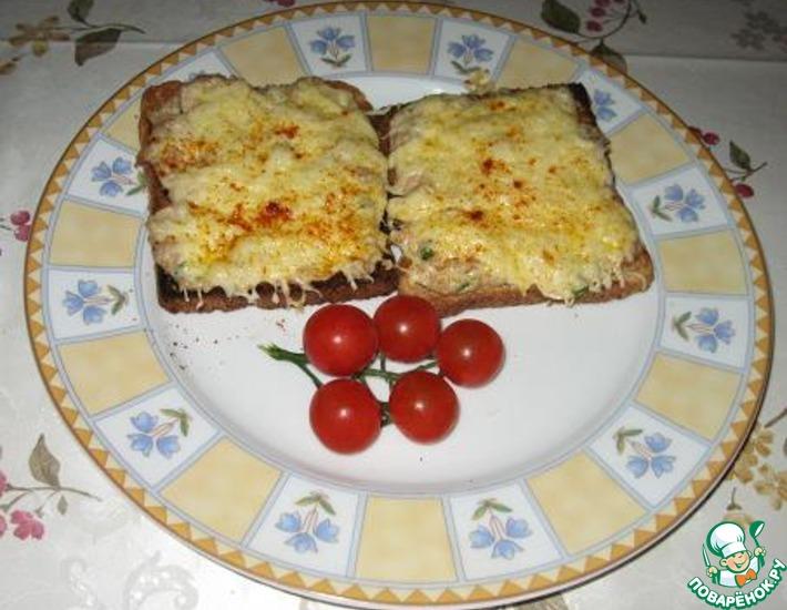 Рецепт: Горячие сэндвичи с тунцом
