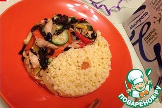 Рецепт: Теплый салат из курицы по-китайски