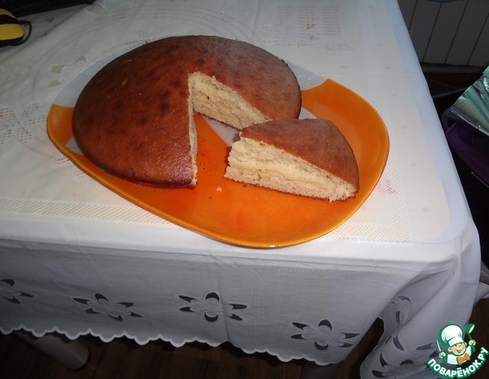 Рецепт: Бисквит на сгущенке